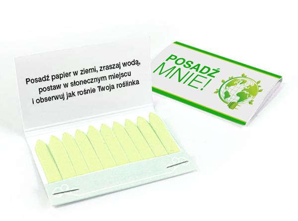 okładka z kartką z nasionkami do posadzenia