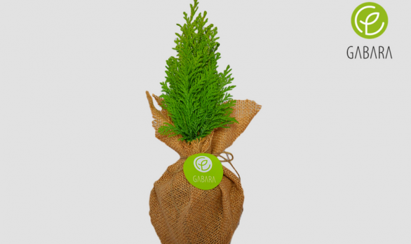 Promotional Christmas tree in jute